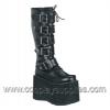 MEGA-618 Black Faux Leather